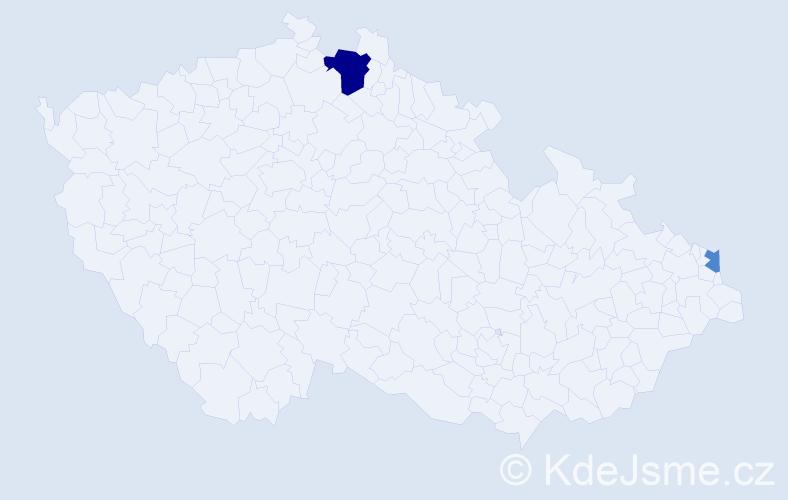 Příjmení: 'Adolph', počet výskytů 4 v celé ČR