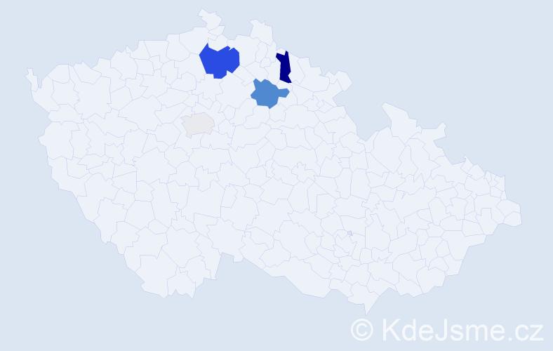 Příjmení: 'Iszworová', počet výskytů 9 v celé ČR