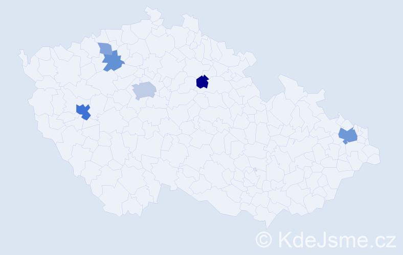 Příjmení: 'Falter', počet výskytů 15 v celé ČR