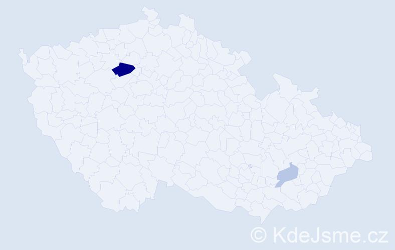 Příjmení: 'Andrejši', počet výskytů 6 v celé ČR