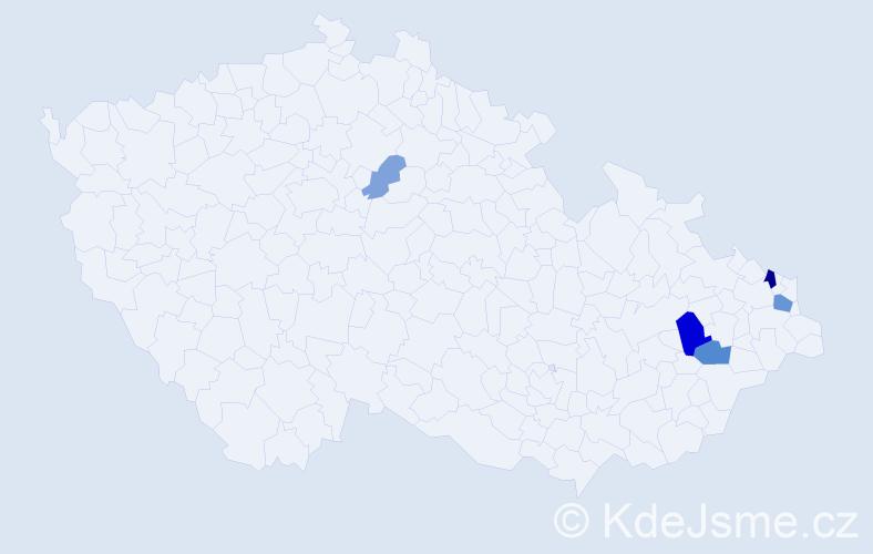 Příjmení: 'Čierňava', počet výskytů 12 v celé ČR