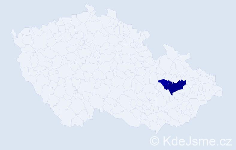 Příjmení: 'Kokosiński', počet výskytů 6 v celé ČR