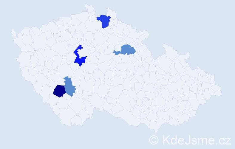 Příjmení: 'Kynkorová', počet výskytů 11 v celé ČR