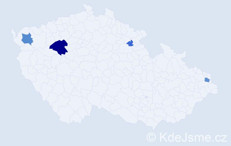 Příjmení: 'Bacsó', počet výskytů 12 v celé ČR
