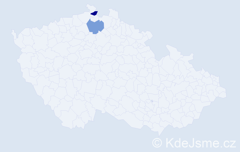 Příjmení: 'Čubiňáková', počet výskytů 2 v celé ČR