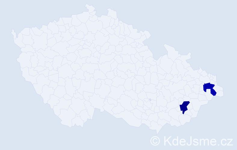Příjmení: 'Landsbergerová', počet výskytů 2 v celé ČR