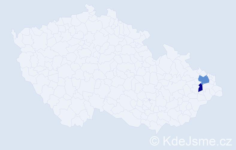 Příjmení: 'Lemešáni', počet výskytů 3 v celé ČR