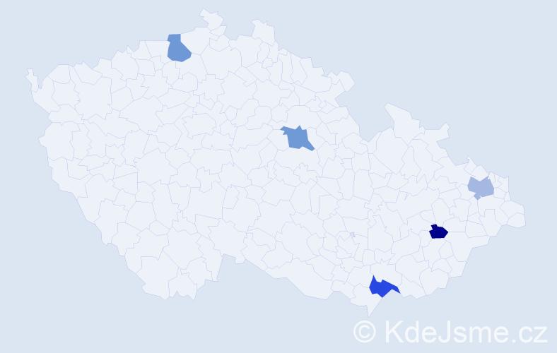Příjmení: 'Greé', počet výskytů 19 v celé ČR