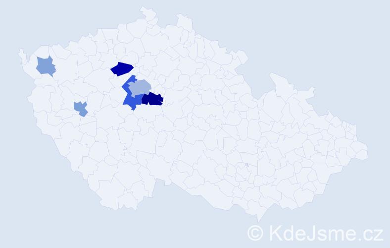 Příjmení: 'Flusserová', počet výskytů 17 v celé ČR