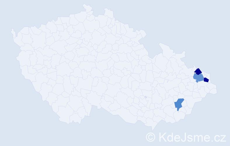 Příjmení: 'Čepigová', počet výskytů 6 v celé ČR