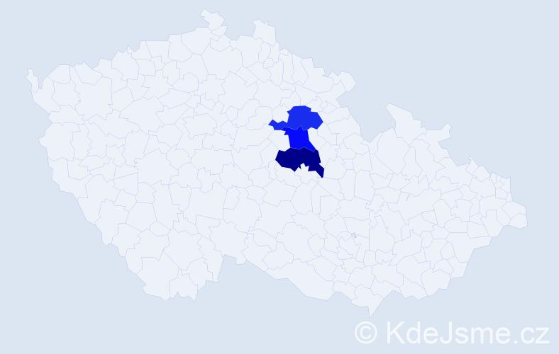 Příjmení: 'Gajdošiková', počet výskytů 3 v celé ČR