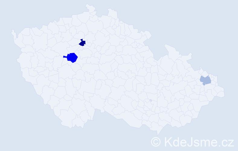 Příjmení: 'Góralczyk', počet výskytů 7 v celé ČR