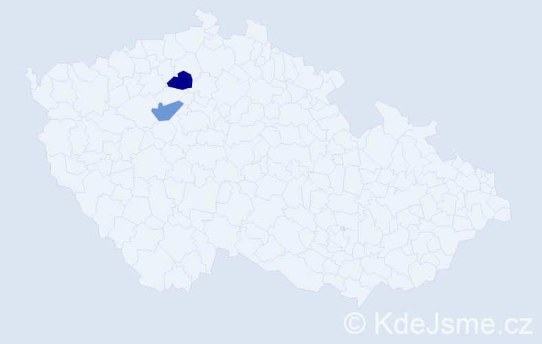 Příjmení: 'Eidkum', počet výskytů 2 v celé ČR