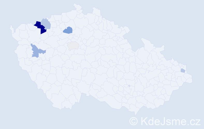 Příjmení: 'Babčaník', počet výskytů 10 v celé ČR