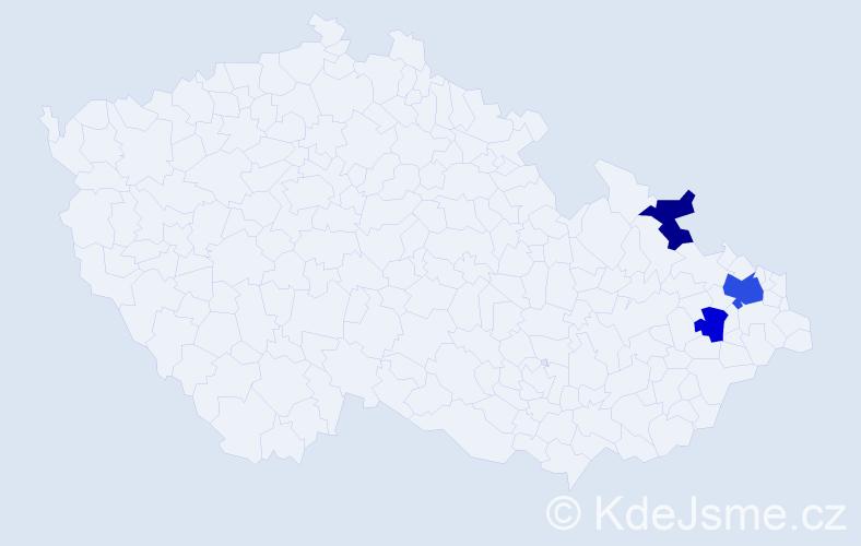 Příjmení: 'Jankielová', počet výskytů 5 v celé ČR