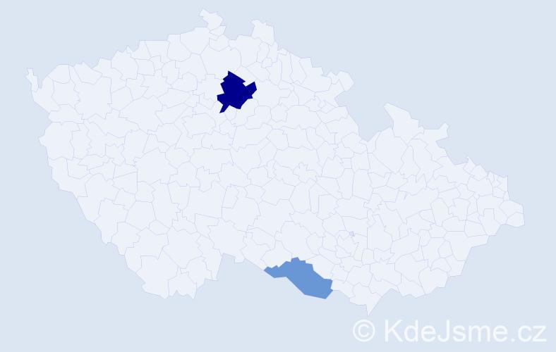 Příjmení: 'Kolšovská', počet výskytů 4 v celé ČR