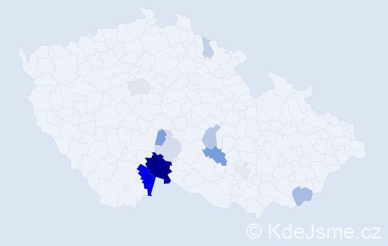 Příjmení: 'Ficalová', počet výskytů 48 v celé ČR