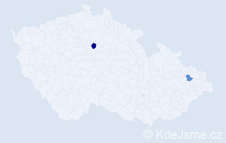 Příjmení: 'Laniaková', počet výskytů 3 v celé ČR