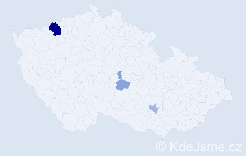 Příjmení: 'Gärber', počet výskytů 10 v celé ČR