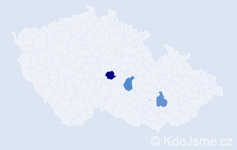 Příjmení: 'Kohlmayer', počet výskytů 3 v celé ČR