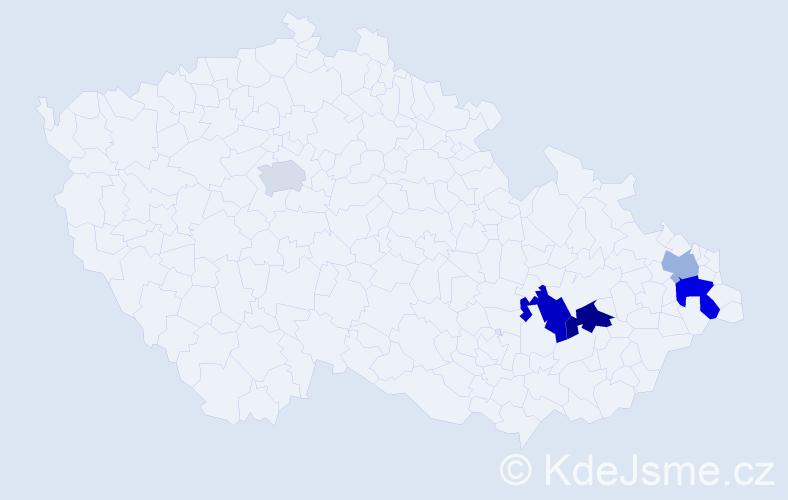 Příjmení: 'Goebel', počet výskytů 8 v celé ČR