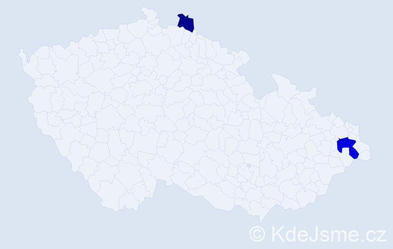 Příjmení: 'Czerwinská', počet výskytů 4 v celé ČR