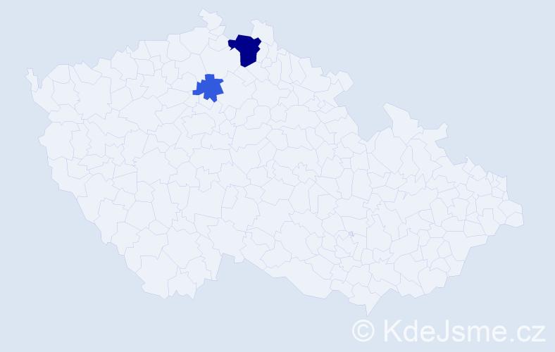 Příjmení: 'Feckaničová', počet výskytů 5 v celé ČR