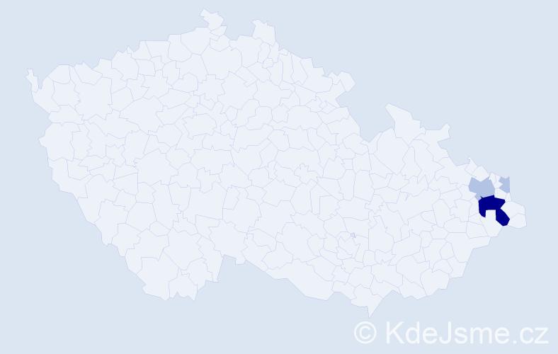 Příjmení: 'Brys', počet výskytů 14 v celé ČR