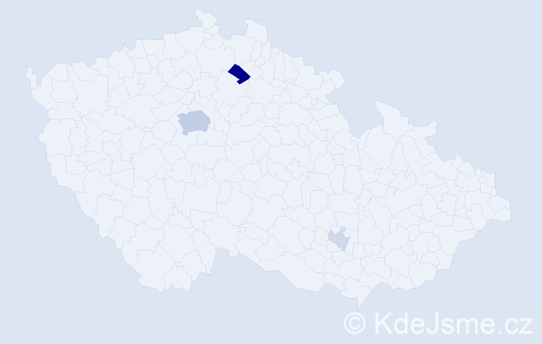 Příjmení: 'Bernasconi', počet výskytů 6 v celé ČR
