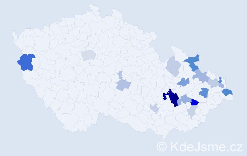 Příjmení: 'Fildán', počet výskytů 51 v celé ČR