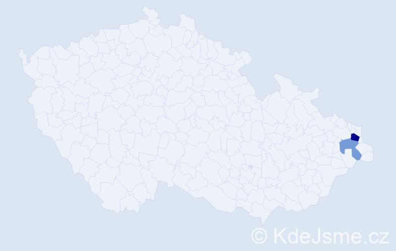 Příjmení: 'Hubočáni', počet výskytů 4 v celé ČR