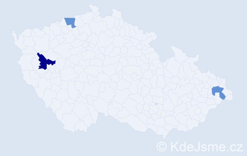 Příjmení: 'Gaudyn', počet výskytů 7 v celé ČR