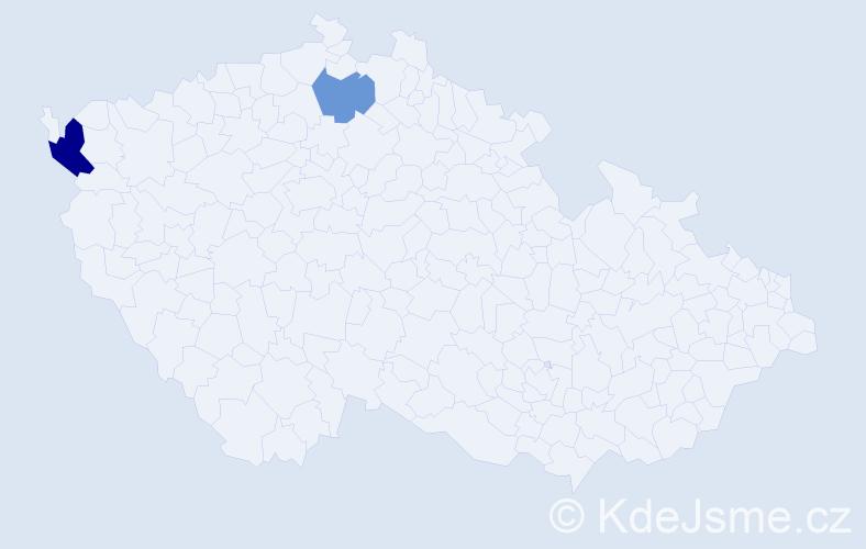 Příjmení: 'Iringová', počet výskytů 3 v celé ČR