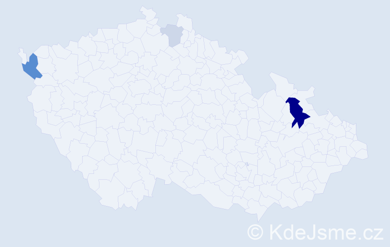 Příjmení: 'Berze', počet výskytů 9 v celé ČR