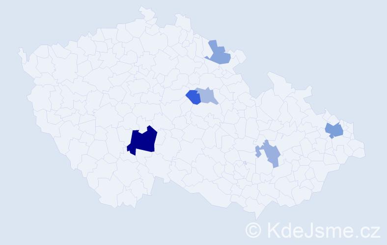 Příjmení: 'Kolibíková', počet výskytů 13 v celé ČR