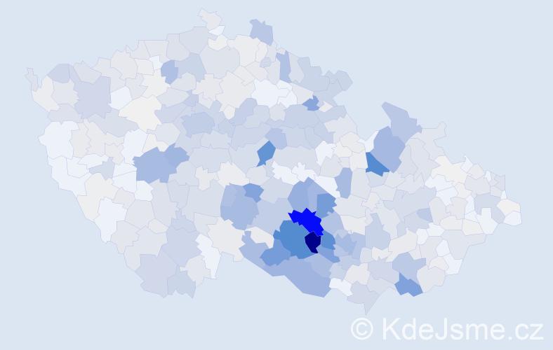 Příjmení: 'Horký', počet výskytů 2339 v celé ČR