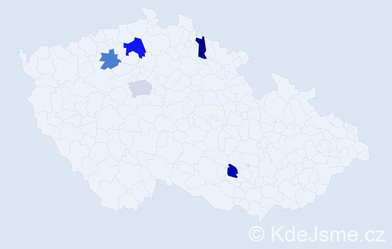 Příjmení: 'Kalakajová', počet výskytů 7 v celé ČR