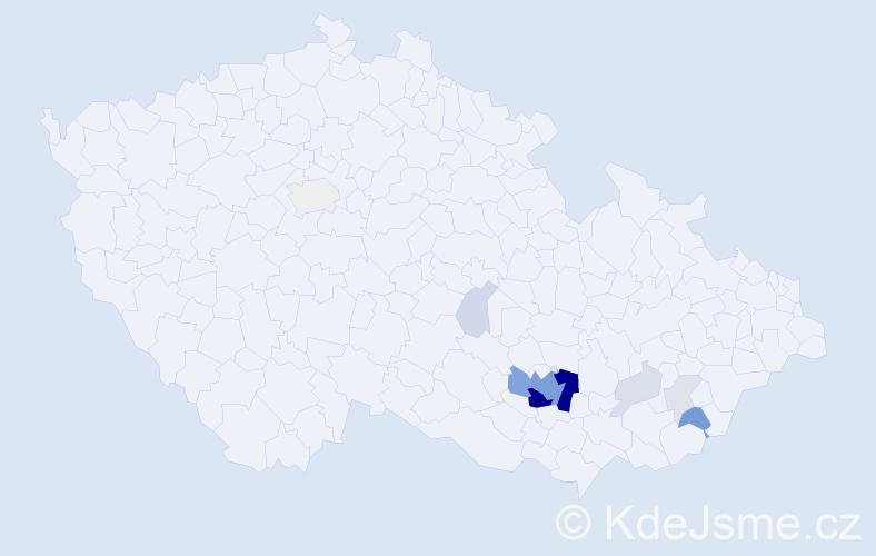 Příjmení: 'Ferdusová', počet výskytů 51 v celé ČR