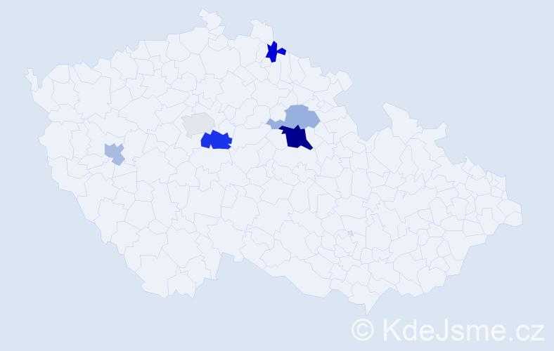 Příjmení: 'Demjančuková', počet výskytů 11 v celé ČR