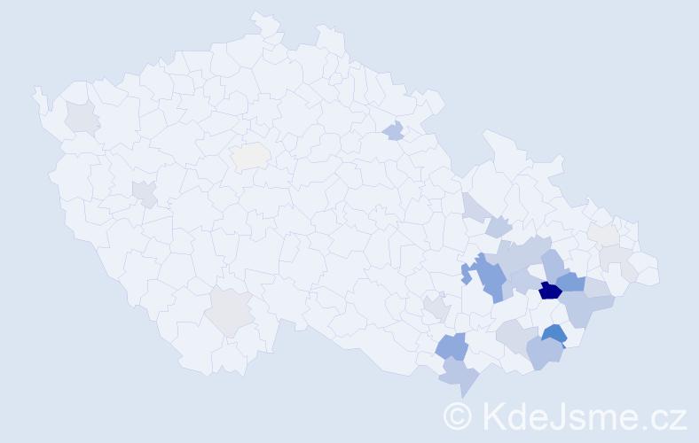 Příjmení: 'Idesová', počet výskytů 62 v celé ČR