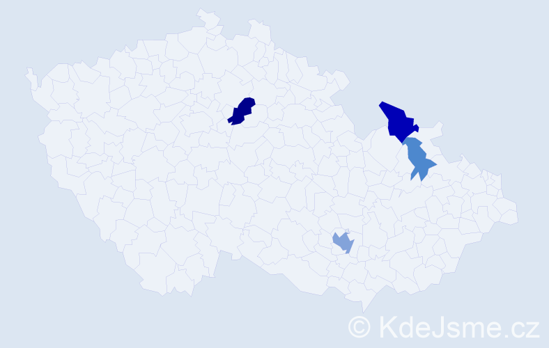 Příjmení: 'Kišgeci', počet výskytů 8 v celé ČR