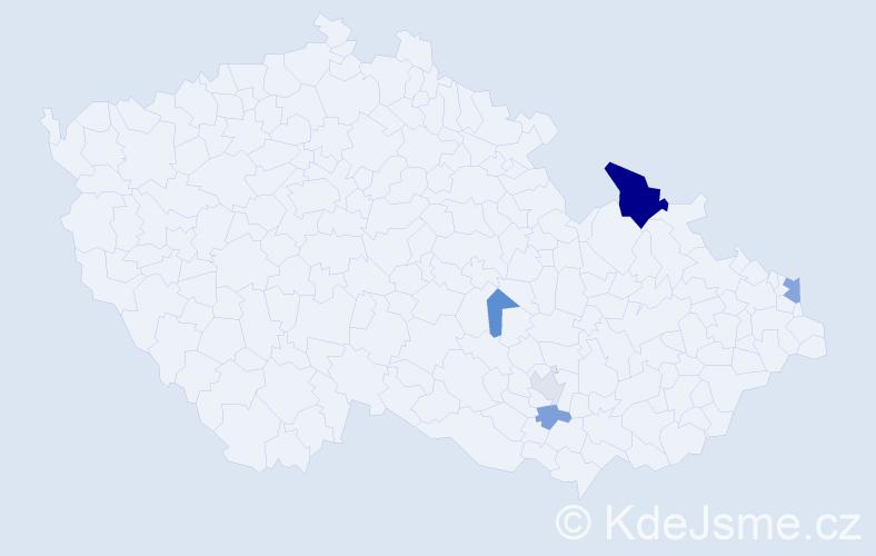 Příjmení: 'Atanasiadis', počet výskytů 10 v celé ČR