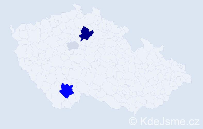 Příjmení: 'Čurn', počet výskytů 5 v celé ČR