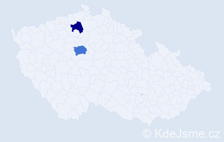 Příjmení: 'Karkovský', počet výskytů 7 v celé ČR