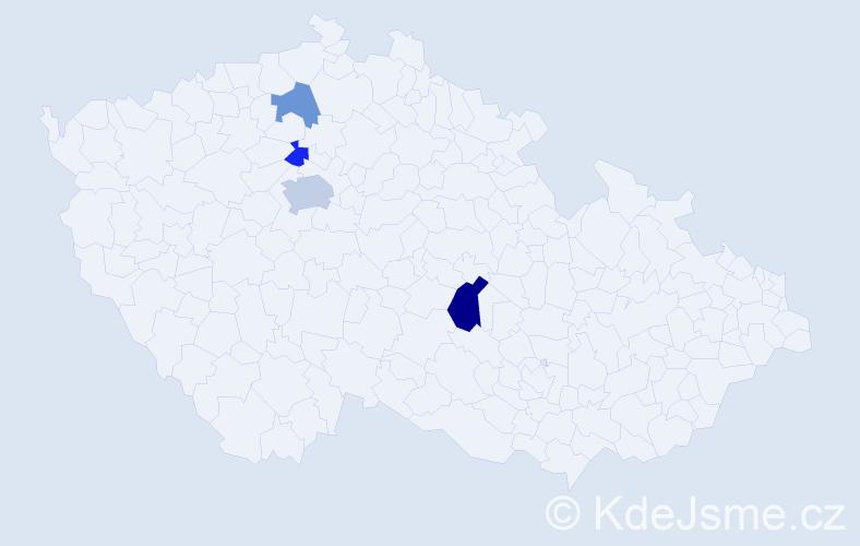 Příjmení: 'Kameničková', počet výskytů 7 v celé ČR