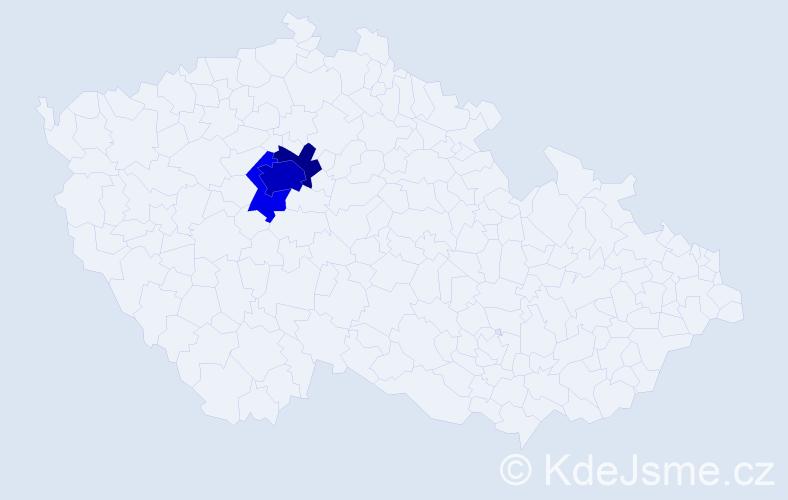 Příjmení: 'Felčárková', počet výskytů 10 v celé ČR