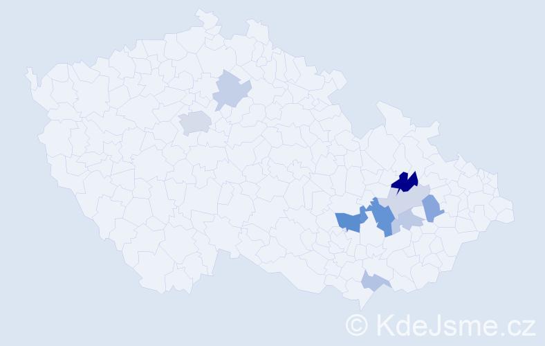 Příjmení: 'Jenderková', počet výskytů 20 v celé ČR