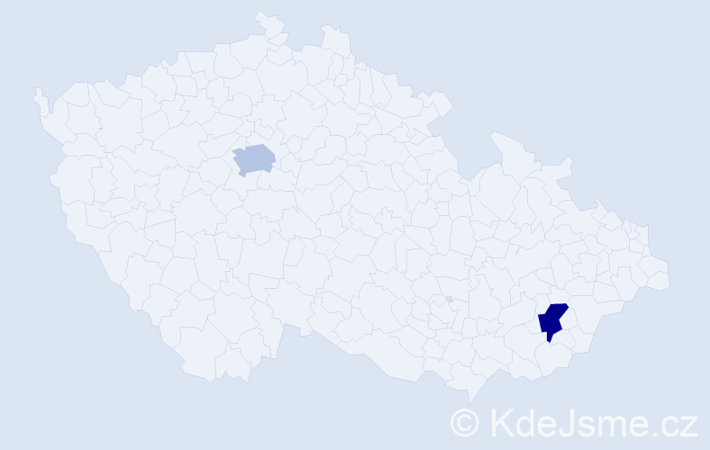 Příjmení: 'Lerl', počet výskytů 10 v celé ČR