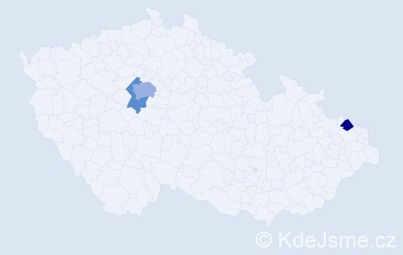Příjmení: 'Brenka', počet výskytů 5 v celé ČR