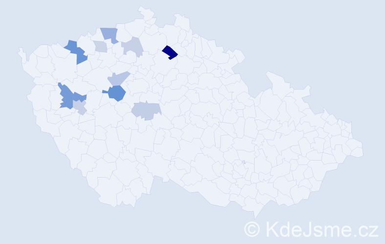 Příjmení: 'Archmannová', počet výskytů 23 v celé ČR